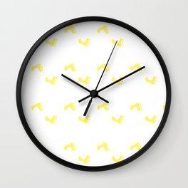 Walk On - Yellow Little Feet Pattern Wall Clock
