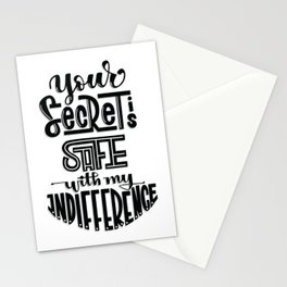 Your Secret is Safe with my Indifference (Critical Role) Stationery Cards