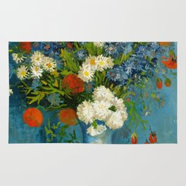 Vincent Van Gogh Vase With Cornflowers And Poppies Rug
