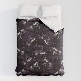 Unicorn constellation magical cute stars unicorns pattern by andrea lauren Comforters
