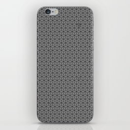 Isometric Weaved Cubes in Black and White Illustration iPhone Skin
