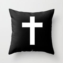 White Cross Throw Pillow