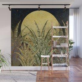 """Golden aloe Zebra midnight sun"" Wall Mural"