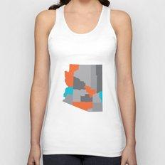 Arizona State Map Print Unisex Tank Top