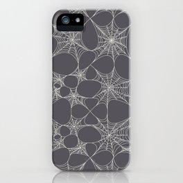 Spiderweb Pattern in Black iPhone Case