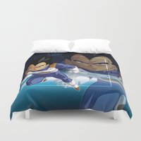 akira Duvet Covers featuring Vegeta by Neo Crystal Tokyo