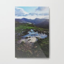 Apennines puddle Metal Print