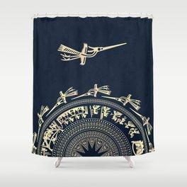 Dong Son drum, Vietnam Shower Curtain