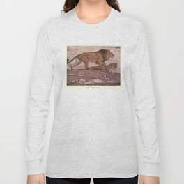 Vintage Lion Painting (1909) Long Sleeve T-shirt