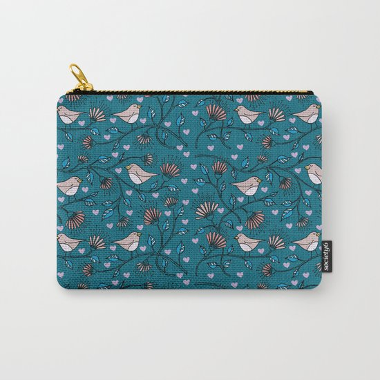 Birds Pattern Carry-All Pouch