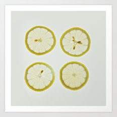 Lemon Square Art Print
