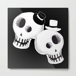 Dapper Skulls Metal Print