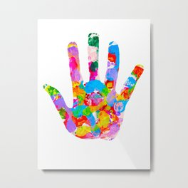 Hand Foot Metal Print