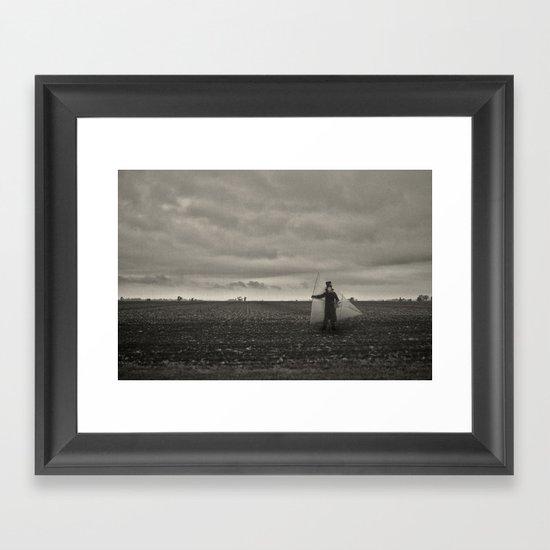I'll sail along this sky Framed Art Print