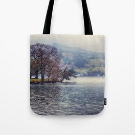 Rain at the Lake Tote Bag