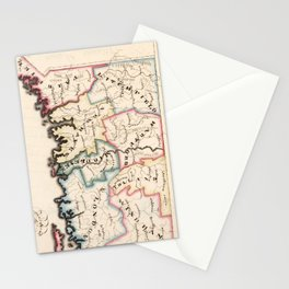 Vintage Map of Connecticut (1819) Stationery Cards
