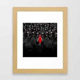 Girl N the Hood Framed Art Print
