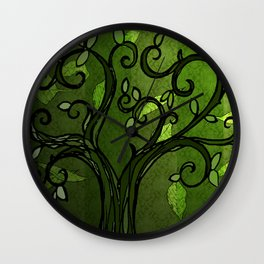 LEAVE - Summer Green Wall Clock