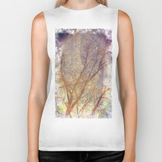 Galaxy + Nature Reflection Biker Tank