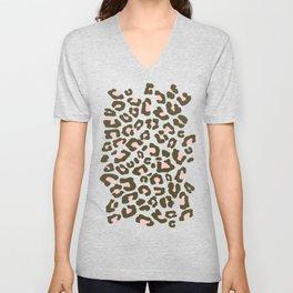 Leopard Print 2.0 - Olive Green Unisex V-Neck