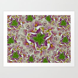 Digitalis Purpurea Flowers Art Print