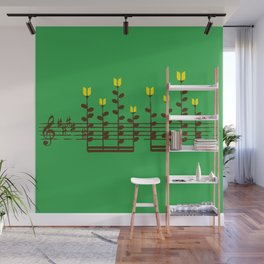 Music notes garden Wall Mural