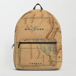 Map of Utah 1871 Backpack