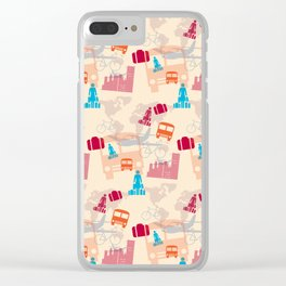 Travel Fever Clear iPhone Case