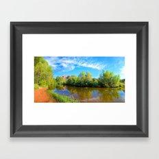 Red Rock Crossing Panorama Framed Art Print