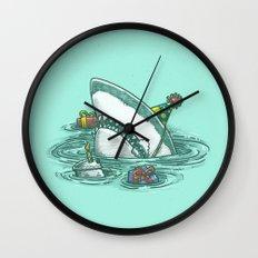 Happy Birthday Shark Wall Clock