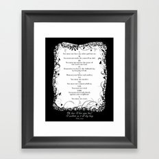 Ten Commandments. Framed Art Print