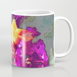 Butterfly Over Fuchsia Flowers Coffee Mug