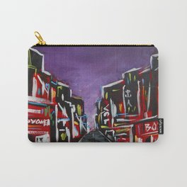 An Empty Street in an Asian City At Night Carry-All Pouch