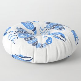 Blue Scorpion Floor Pillow