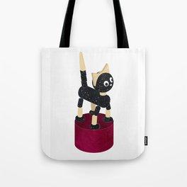 PUSH UP CAT, toy illustration Tote Bag