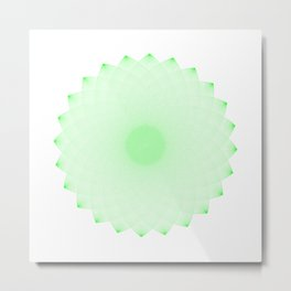 AFRAD 'SINGULAR' | 24-POINT MANDALA (GREEN) Metal Print