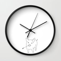the pig Wall Clock