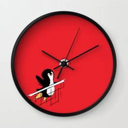 Flying Penguins Wall Clock