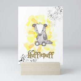 Hufflepuff - H a r r y P o t t e r inspired Mini Art Print