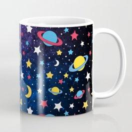 Colourful Stars and Planets Pattern Coffee Mug