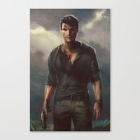 uncharted Canvas Prints featuring Uncharted by therealmcgee