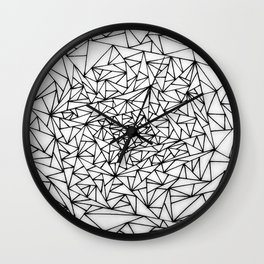 shattered black and white triangles Wall Clock