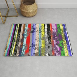 Smearing The Lines Of Colour Rug