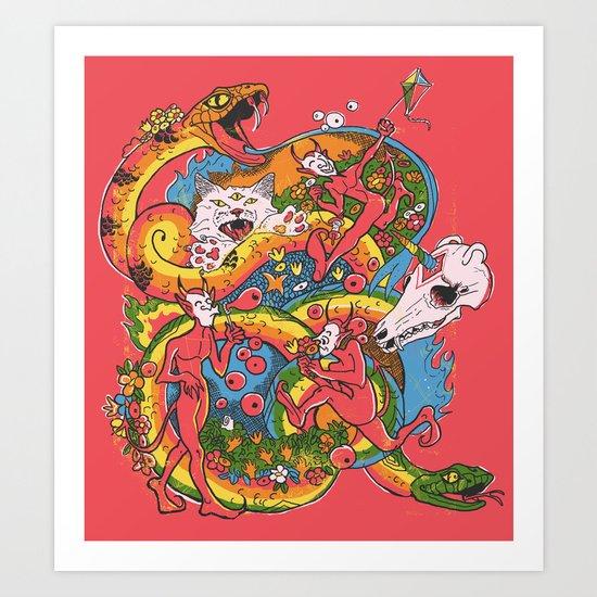 Holiday Imp Art Print