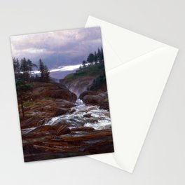 Johan Christian Dahl The Lower Falls of Labrofoss Stationery Cards