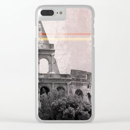 Colosseum Rome Italy Clear iPhone Case