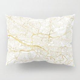 Glasgow Map Gold Pillow Sham