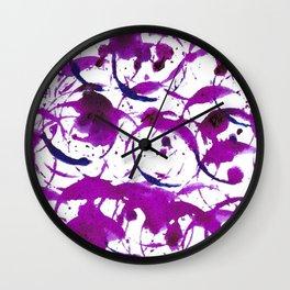 Purple Drip Bubbles Wall Clock