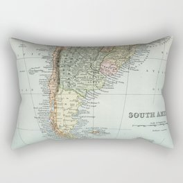 Vintage Map of the South of America Rectangular Pillow