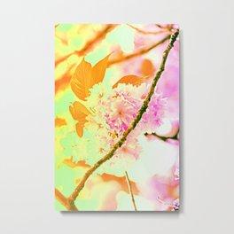 Spring hippy love colors Metal Print